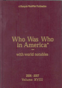 Who Was Who In America 2006 2007