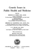 Genetic Issues in Public Health and Medicine