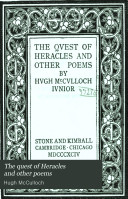 The Quest of Heracles and Other Poems