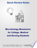 Microbiology Mnemonics for College  Medical and Nursing Students