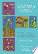 A Modern Herbal Book PDF