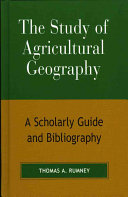 The Study of Agricultural Geography