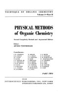 Technique of Organic Chemistry: Physical methods of organic chemistry. 3 pts