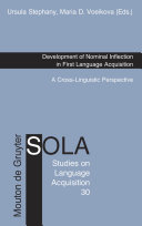 Development of Nominal Inflection in First Language Acquisition