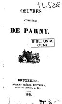 Oeuvres complètes de Parny