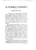 Begin  Al Pueblo Catolico   An address upon the occasion of the banishment of the Archbishop of Bogot    M  J  Mosquera  signed by M  M  Saiz  J  B  Albasanchez  etc