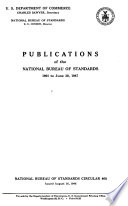 Publications United States National Bureau Of Standards Book PDF