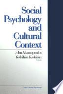 Social Psychology and Cultural Context Book