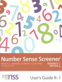 Number Sense Screener  Nss  User s Guide   Stimulus Book   Quick Script   Record Sheets