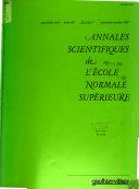 Annales Scientifiques de L'École Normale Supérieure