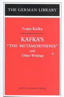 Kafka's The Metamorphosis and Other Writings