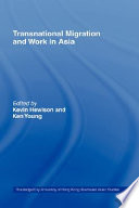 Transnational Migration And Work In Asia Book PDF