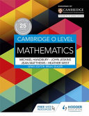 Books - Cambridge O Level Mathematics | ISBN 9781471859625