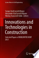Innovations and Technologies in Construction Book