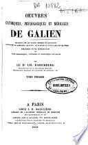 Œuvres anatomiques, physiologiques et médicales de Galien