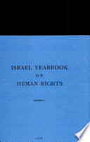 Israel Yearbook On Human Rights 1976