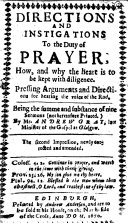 Directions and Instigations to the Duty of Prayer