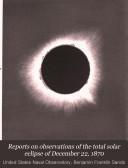 Pdf Reports on Observations of the Total Solar Eclipse of December 22, 1870