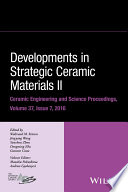 Developments in Strategic Ceramic Materials II
