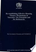 Re-establishing Effective Housing Finance Mechanisms in Tanzania
