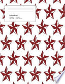 Christmas Pattern Star Composition College Ruled Book (7. 44 X 9. 69) 200 Pages