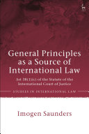 General Principles as a Source of International Law [Pdf/ePub] eBook