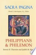 Sacra Pagina Philippians And Philemon