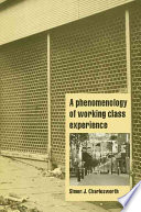 A Phenomenology of Working Class Experience