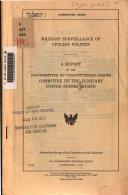 Military Surveillance of Civilian Politics