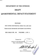 Proposed 1982 Outer Continental Shelf Oil and Gas Lease Sale Offshore Southern California