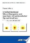 Ultrafast Nonlinear Silicon Waveguides And Quantum Dot Semiconductor Optical Amplifiers Book PDF
