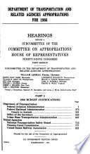 1986 budget justifications