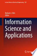 Information Science and Applications