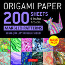 Origami Paper 200 Sheets Marbled Patterns 6 (15 CM)