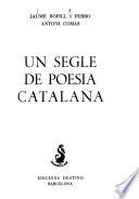 Un Segle de poesia catalana
