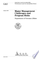 Major management challenges and program risks : Department of Veterans Affairs