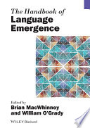 The Handbook Of Language Emergence Book PDF
