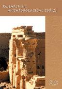 Research in Anthropological Topics Pdf/ePub eBook