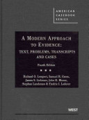 A Modern Approach to Evidence