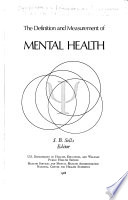 The Definition and Measurement of Mental Health