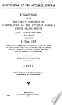 Investigation of the Attorney General