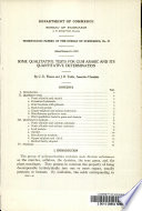 Some Qualitative Tests For Gum Arabic And Its Quantitative Determination Book PDF
