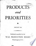 Products and Priorities
