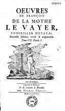 Oeuvres de François de La Mothe La Vayer ebook