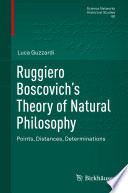 Ruggiero Boscovich   s Theory of Natural Philosophy Book