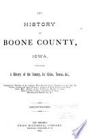 The History of Boone County, Iowa