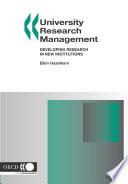 University Research Management Developing Research in New Institutions