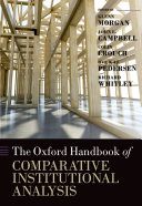 Pdf The Oxford Handbook of Comparative Institutional Analysis Telecharger