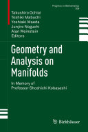 Geometry and Analysis on Manifolds