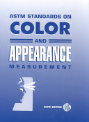 Astm Standards On Color And Appearance Measurement Book PDF